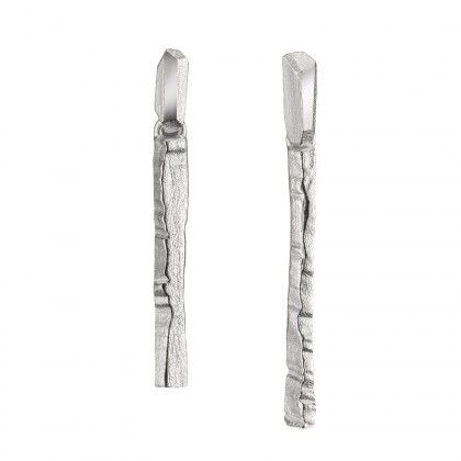 Traces earrings silver Design Liesbeth Busman  / Lapponia Jewelry / Handmade in Helsinki