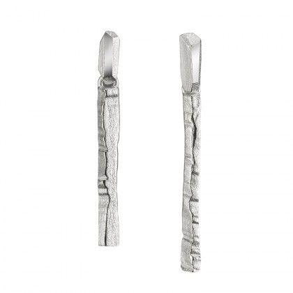 Traces earrings silver Design Liesbeth Busman  / Lapponia Jewelry / Handmade in Helsinki