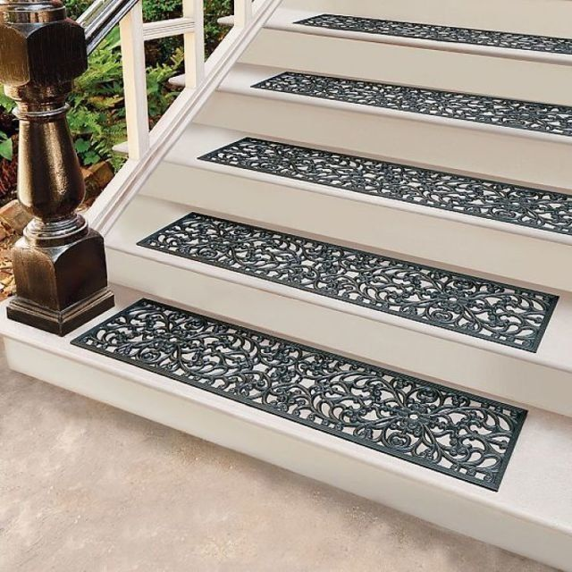 Beaudoin Utility Peel And Stick Stair Tread Rugs On Carpet Outdoor Stairs Stair Treads