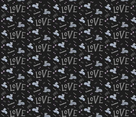 Standard Schnauzer Dog fabric and gift wrap by forestwooddesigns on Spoonflower - Buy it now http://www.spoonflower.com/designs/6002452-standard-schnauzer-dog-love-by-forestwooddesigns