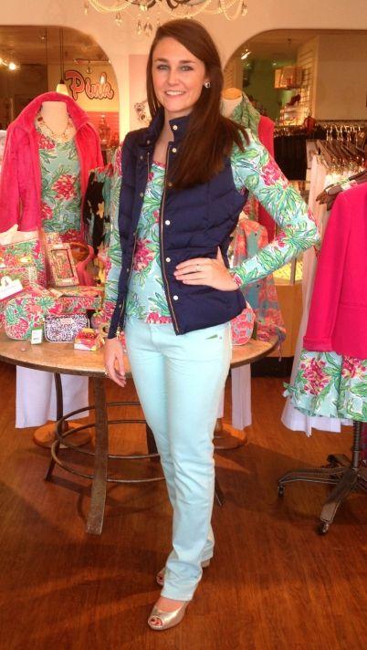 Lilly Pulitzer Lauren Puffer Vest, True Navy