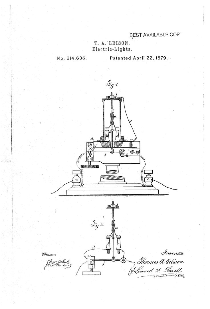 Thomas Edison Patent US214636 - Improvement in electric lights - Google Patents #lighting #history  sc 1 st  Pinterest & 16 best History of Light images on Pinterest | Bulbs Light bulb ... azcodes.com