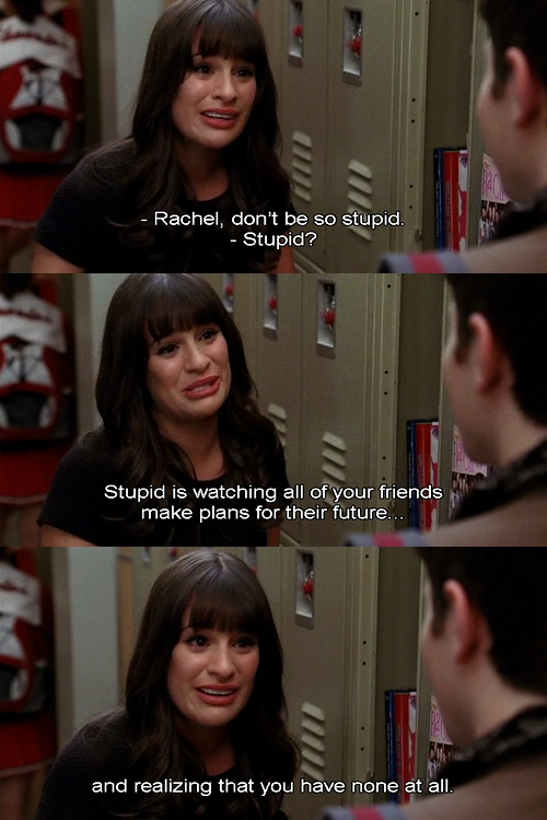#glee...I don't have any plans for the future