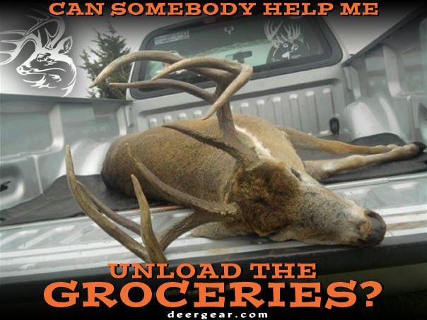 Can somebody help me unload the #groceries?  #WeAreLegendary #Whitetail #Deer #Hunting http://community.deergear.com