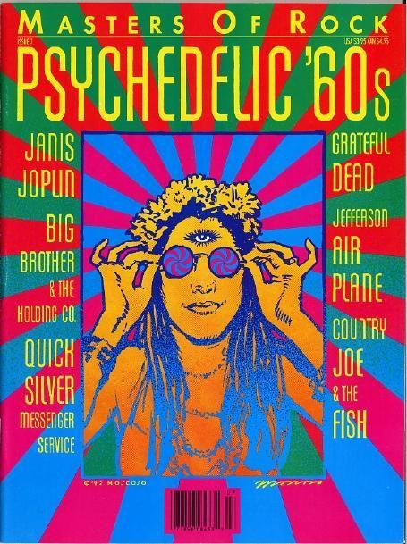Ordet psykedelisk betyr noe som utvider bevisstheten, gjerne da gjennom bruk av hallusinogene narkotiske stoffer.  På 60-tallet kom det en kunstform som viste en fornyet interesse for art nouveau-stilen og blant annet var opptatt av de synsbilder som framkommer i narkotikarus.  Stilen er drømmeaktig og dvelende, med fargerike organiske mønstre. Stilen slo sterkt gjennom i plakatkunst,  på plateomslag og i reklame. Fargerike batikk-T-skjorter ble mote.