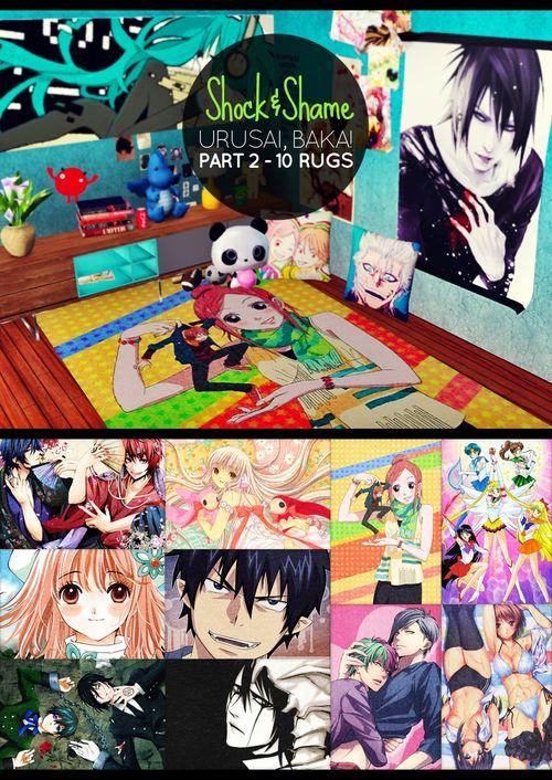 sims 4 anime decor cc - Google Search