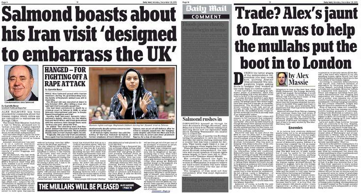 """The Scottish Daily Mail, which alongside its Sunday sister paper is spending the festive period engaged in an """"SNP BAD!"""" frenzy – attacking the party over everything from foxhunti…"""