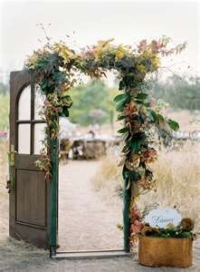 Make your own ceremony door!  For more wedding ideas visit www.yourbigday.im