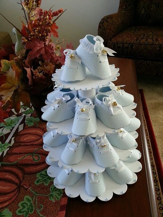 Baby Boy Shoe Tree With Shoe Favors / Baby by TheCarriageShoppe