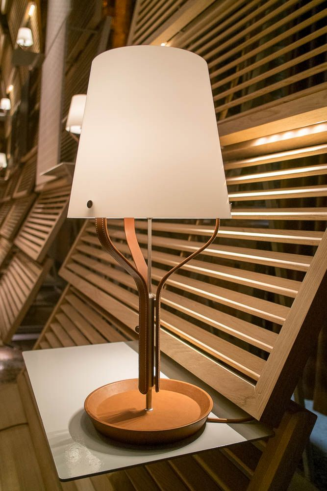 maison design lighting. Hermès Maison | Leather And Glass Table Light Collaboration With Viabizzuno Milan Design Week Lighting R