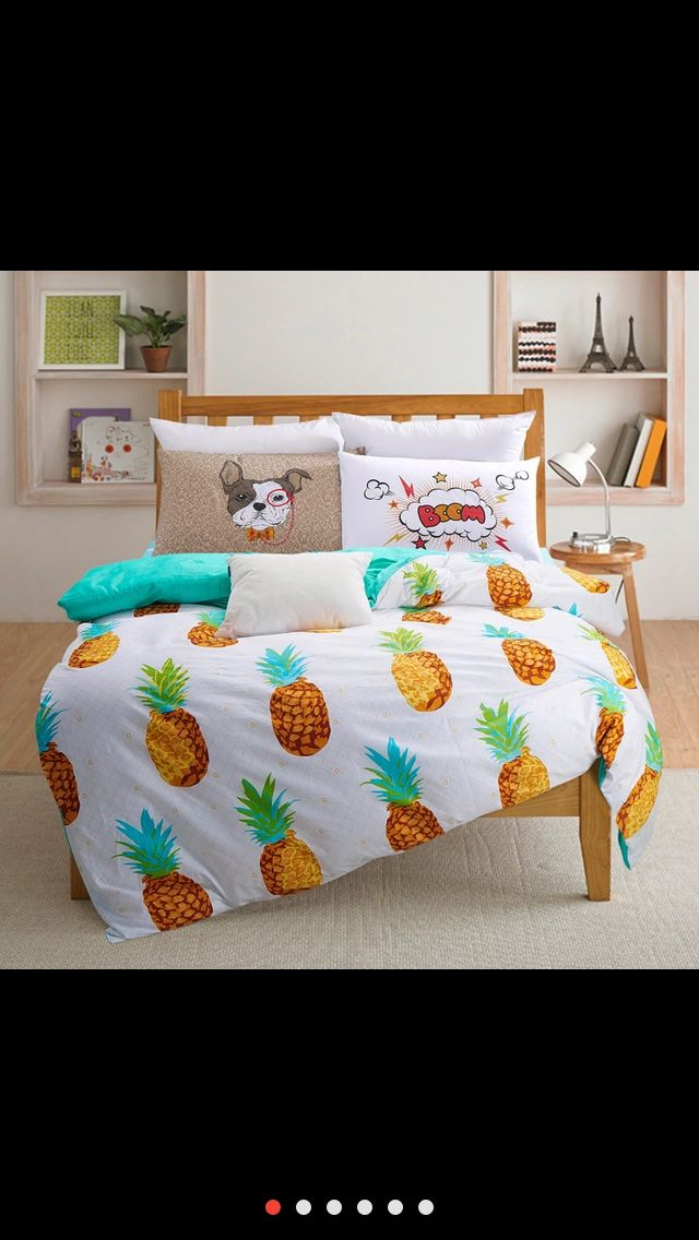 Great Pineapple Bed Spread From Aliexpress Pineapple Pineapplebedspread Pineapplebedroom