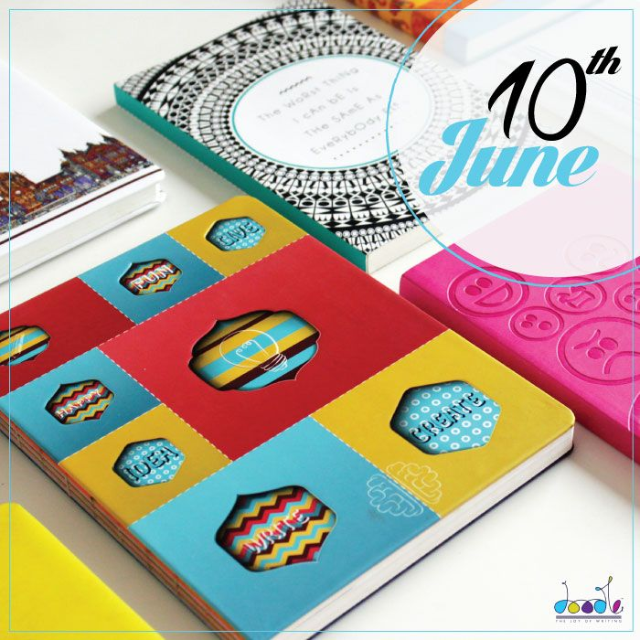 10th June is when we make all the #writers happy with our #MegaSale. Shop your favorite #doodle #diaries at #discount rates. Thank us later.