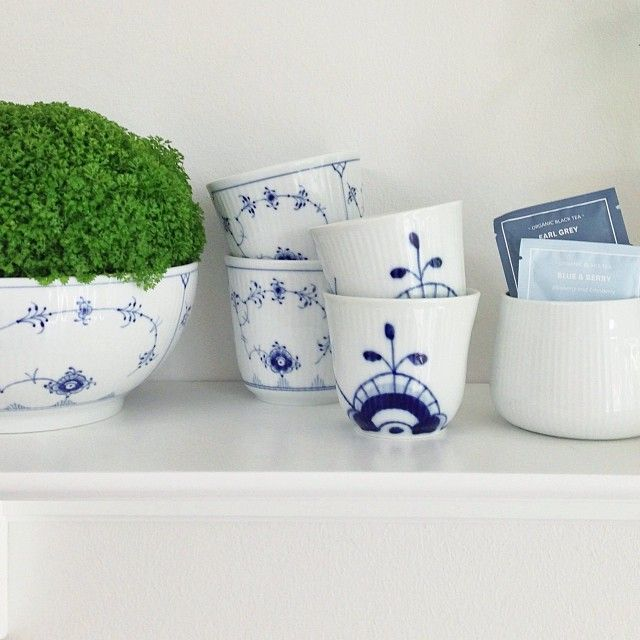 Use Royal Copenhagen Blue Fluted Plain for plants