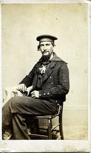 Civil War: 17 CDV - Civil War Sailor from NJ. #genealogy #CivilWar #military