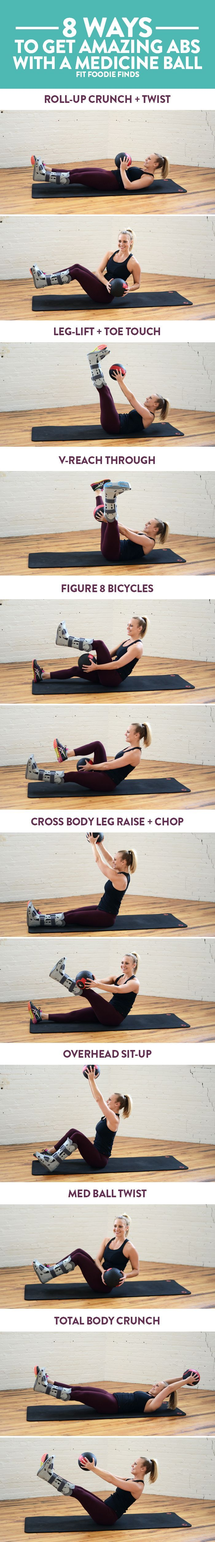 cool 8 Ways to Get Amazing Abs with a Medicine Ball