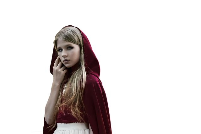 Free Image on Pixabay - Isolated, Girl, Red, Hood, Female