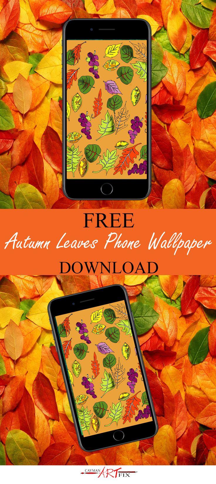 Autumn is underway! Check out this Island Autumn Wallpaper! #wallpapers #mobile #art #islandart #caymanislands #Thanksgiving #caymanartfix