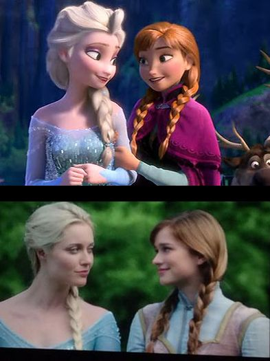 Elsa and Anna...once upon a time has done a wonderful job with casting cant wait to see it in the fall!