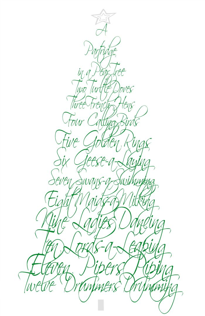 image relating to Words to 12 Days of Christmas Printable identified as Fleur de Lis Quilts and Extras: 12 Times of Xmas