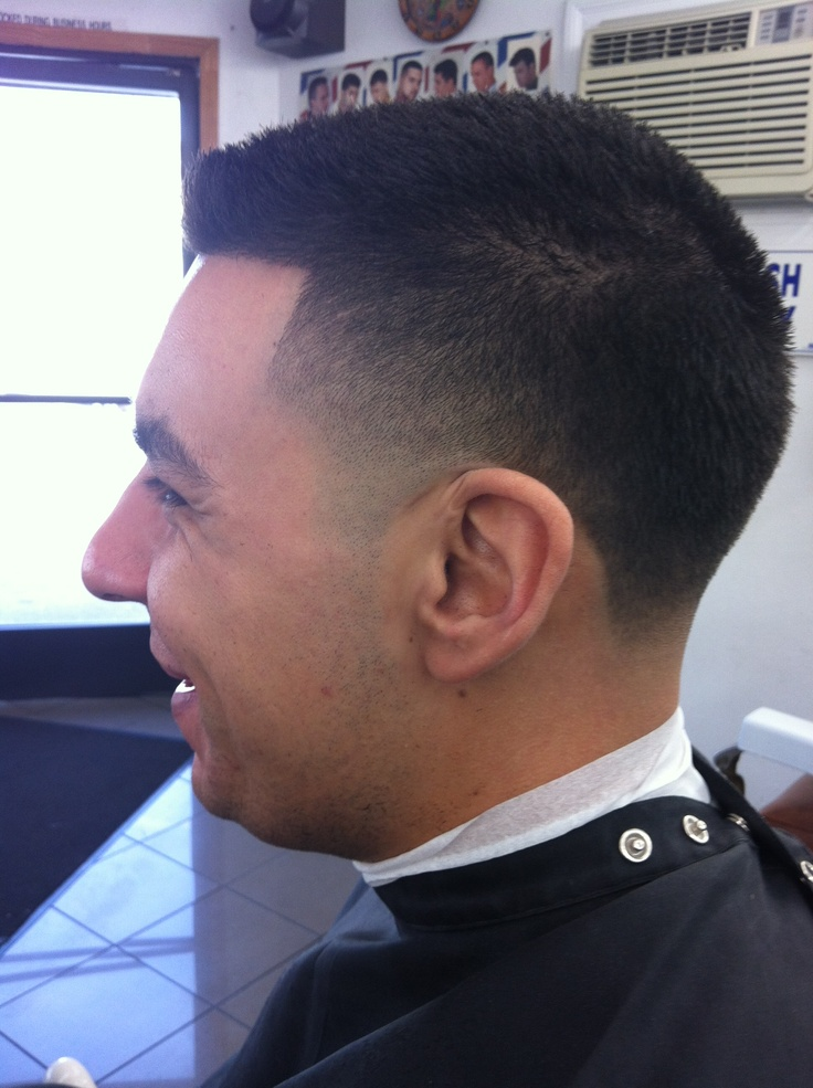 Tape up fade haircut