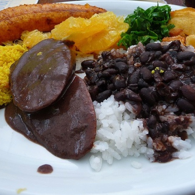 brazil feijoada national dish of brazil black beans collards rice at ...