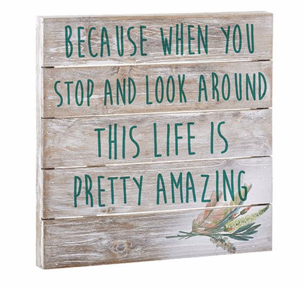 Take time to do what makes your soul happy. Wood Pallet Plaque. Rustic wood pallet with an inspiring message. Each sign is different as natural materials are used making the gift extra special. Made o