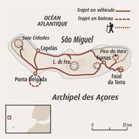 Circuit carte Portugal : Les Açores, caldeiras de São Miguel