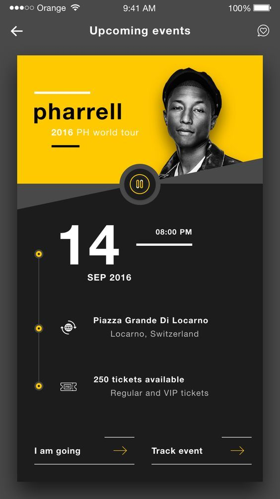 Remqiu music events tickets ios app design ui dribbble shot 4: