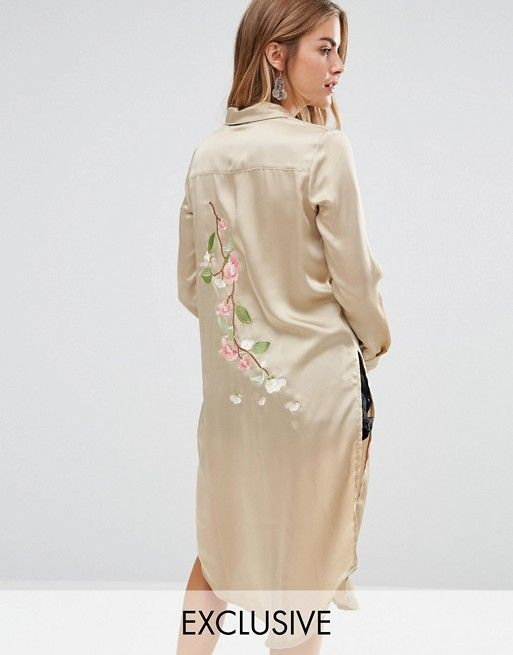 Embroidered Dresses of Satin