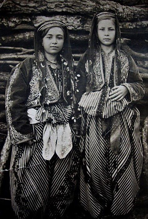 Traditional festive costumes from the central district (ilçe) of the Balıkesir province, ca. 1925-1950.