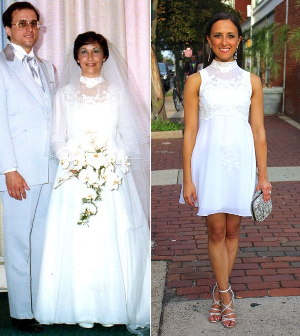 With Bridal Fashion Week coming up soon, we asked our resident newlywed, Senior Editor Sharon Clott Kanter, to share one of her most memorable bridal fashion moments. The first time I saw my mother's wedding gown, it looked dreadful—the lace had turned yellow, it smelled foul from being stashed in a cedar chest since 1981,…