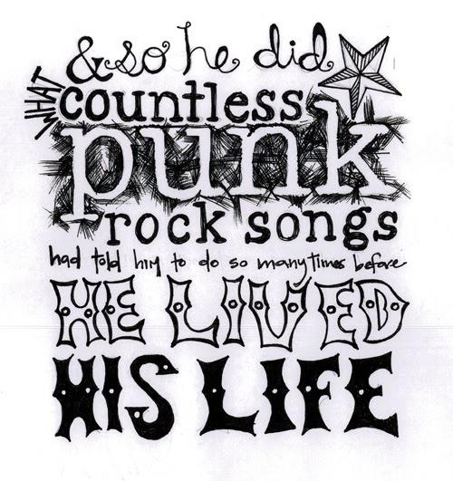countless punk rock songs