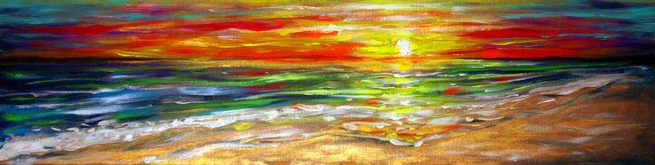 Colors of  the sea (120 cm x 30 cm)