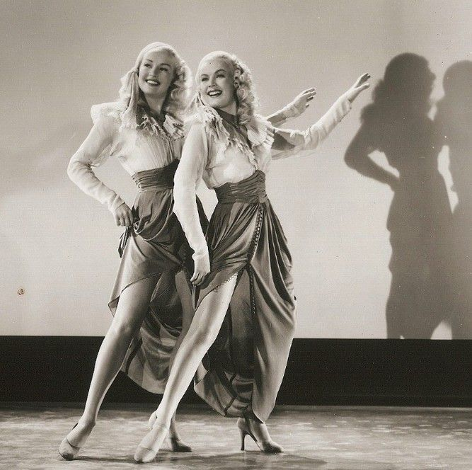 "IMAGES OF BETTY GRABLE | Betty Grable and June Haver as ""The Dolly Sisters"" (1945)"