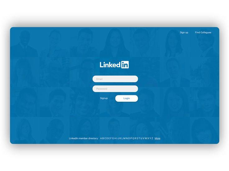 LinkedIn Login / Sign up Page