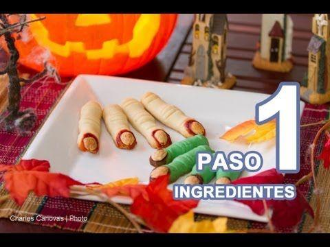 PASO a PASO Horripilantes Dedos de Bruja Dulces y Galletas para Halloween - YouTube