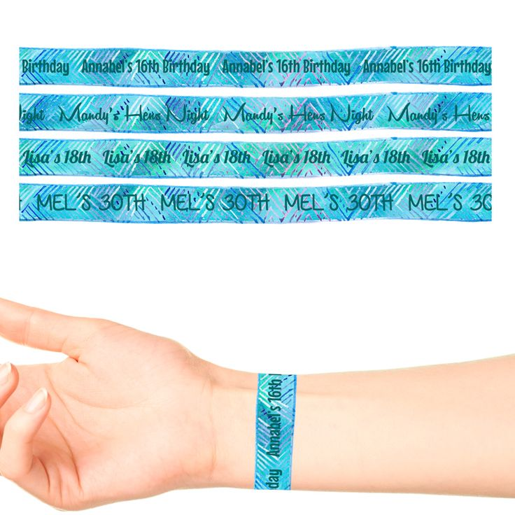 Wrist Band Temporary Tattoos #1094 (17 x 20cm Bands)