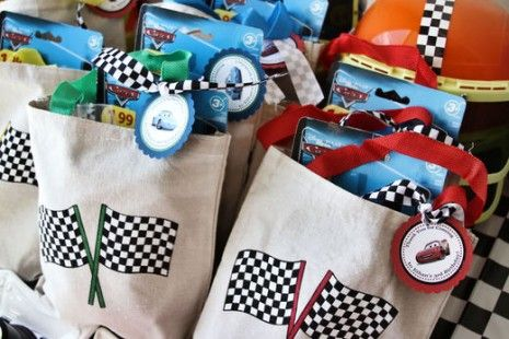 Cars birthday party 15 : Diy Party Favor Bags; Decorations; Table - Scape; Ideas; Paper Craft; Kid Fun