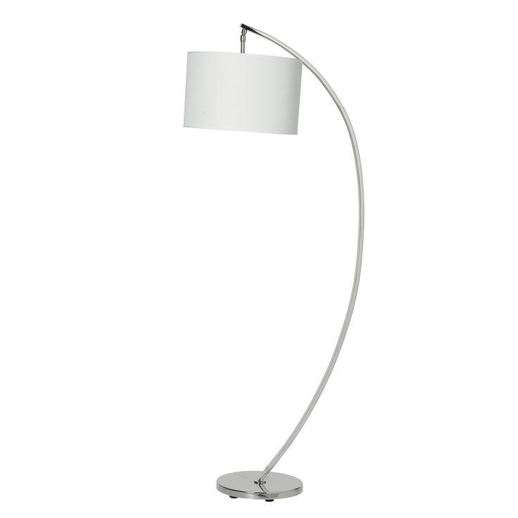 Noah Curved Nickel Floor Lamp at LAURA ASHLEY