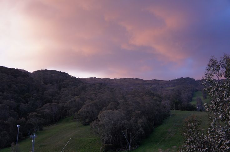 Thredbo Australia sunset