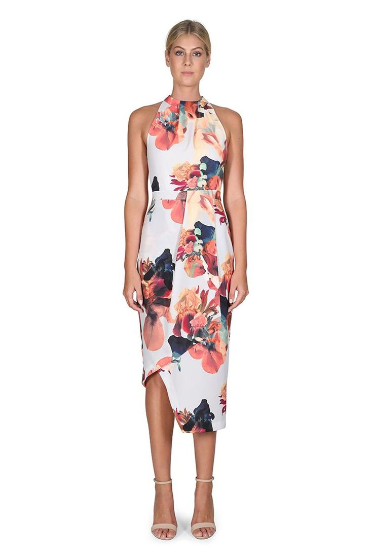 Cooper St - The Stolen Pansy High Neck Dress
