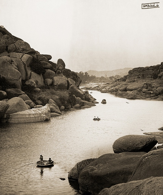 #River Tungabhadra, #Hampi, #India