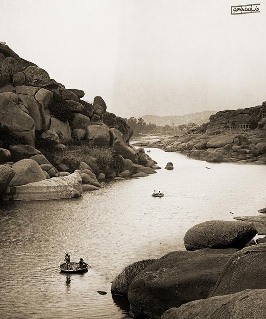 #River Tungabhadra, #Hampi, #India