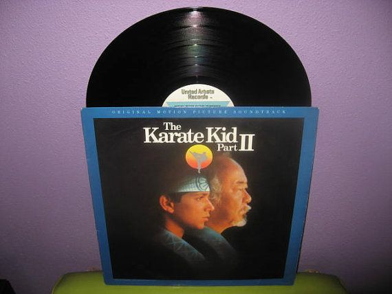 HOLIDAY SALE Rare Vinyl Record The Karate Kid by JustCoolRecords
