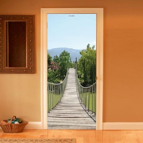 trompe l'oeil | Style your door trompe-l'oeil Rope Bridge by Couture Deco