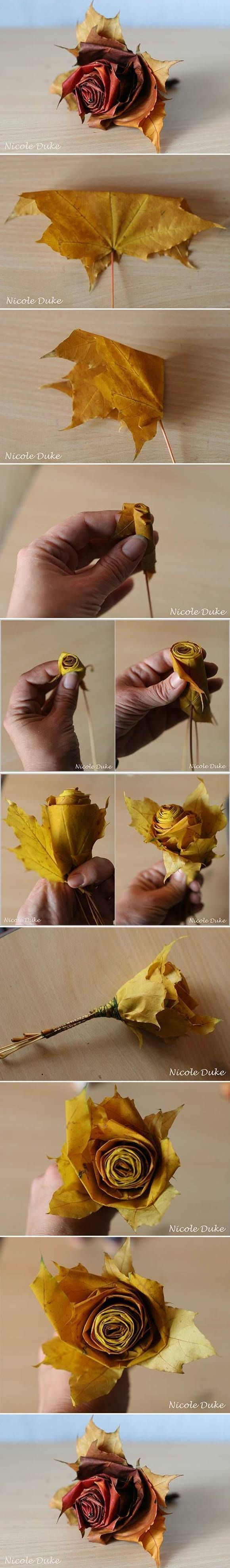 Creative Ideas – DIY Beautiful Maple Leaf Rose
