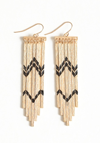Zig Zag Camper Earrings In Gold #threadsence