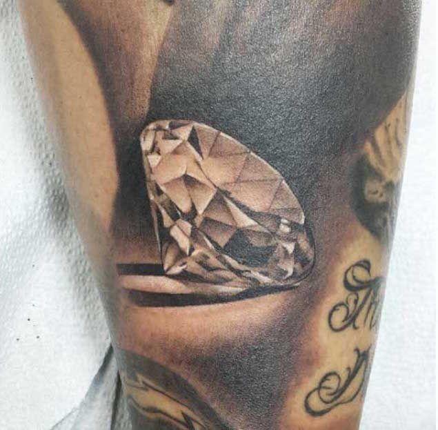 Hyper-Realistic Diamond Tattoo