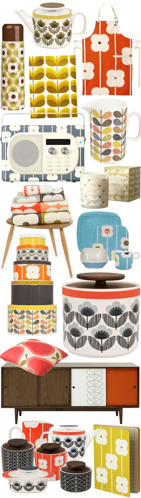70's retro graphics - orla kiely homeware