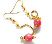 Oorbellen met roze parels van Petra Reijrink
